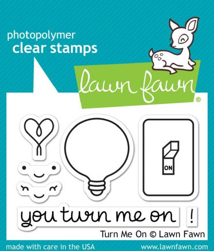 LF1020 S ~ TURN ME ON ~ CLEAR STAMPS BY LAWN FAWN